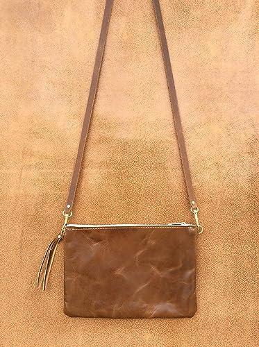 ade6916c91 Handmade Genuine leather Crossbody, Leather Purse, Leather Bag, Soft Leather  bag, women Handbags, made in USA, With Zipper, leather handbags: Amazon.ca:  ...