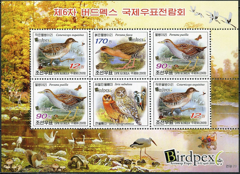 Korea International Stamp Exhibition BIRDPEX 6 Antwerp 2010 2009 Democratic Peoples Republic of I MNH Miniature Sheet