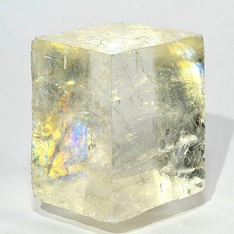 2 arco iris transparente óptico Calcita Natural doble refracción de cristal mineral Islandia Spar ice