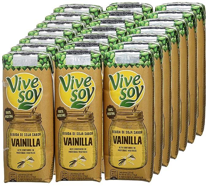 Vivesoy Soja sabor Vainilla - 7 Paquetes de 3 x 250 ml - Total: 5.25 l: Amazon.es: Alimentación y bebidas