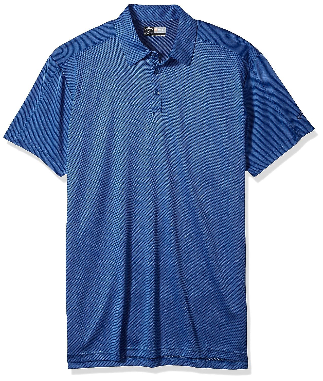Callaway Opti-Dri Herren Golfpoloshirt, Jacquard, kurzärmlig