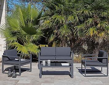 Proloisirs Salon de Jardin en Aluminium Mali 4 Personnes ...
