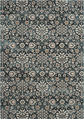 Safavieh Serenity Collection SER209G Turquoise and Cream Area Rug 4' x 6'