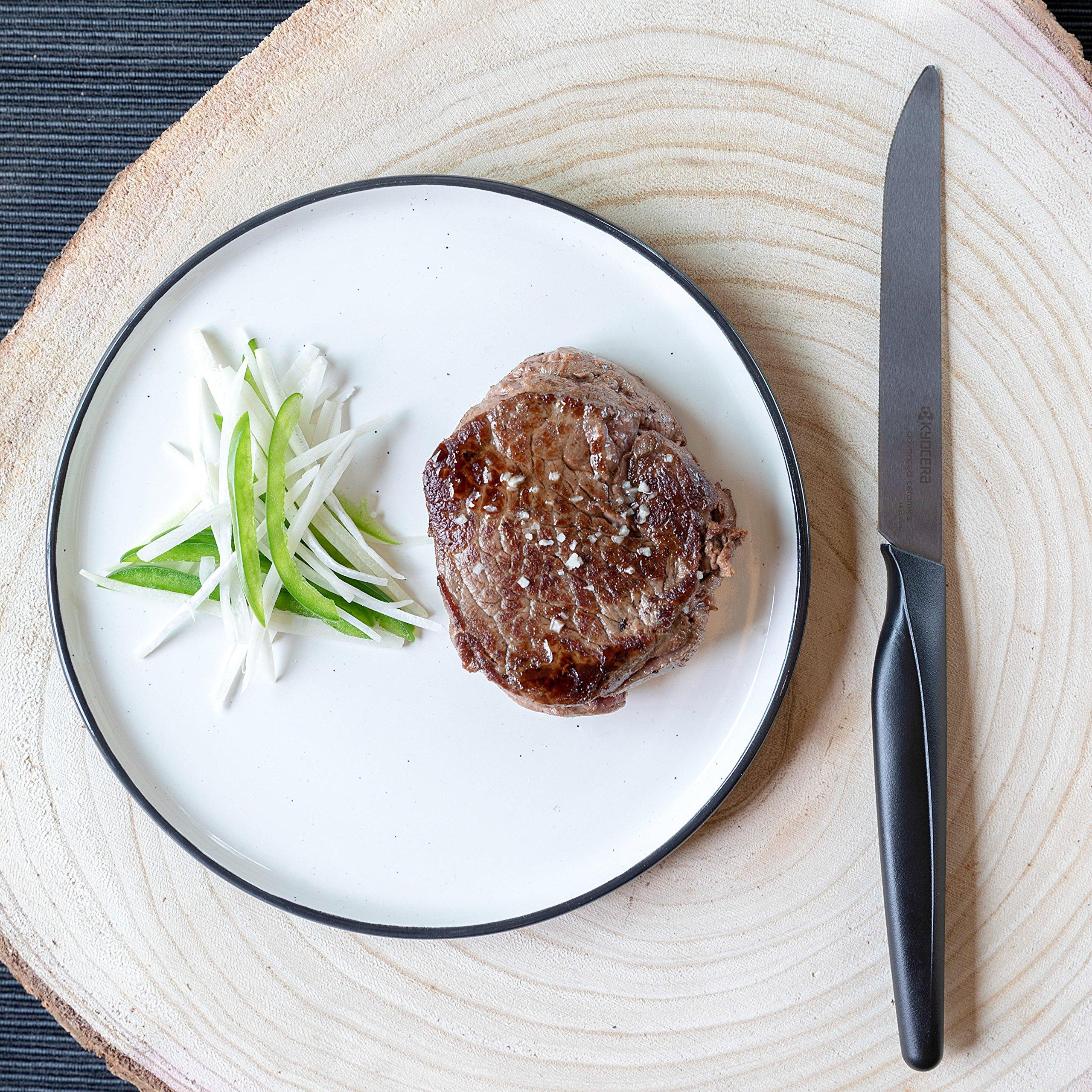 Kyocera SK-4PC Advanced Ceramic Steak Knife Set, One Size, Black/Black by Kyocera (Image #5)