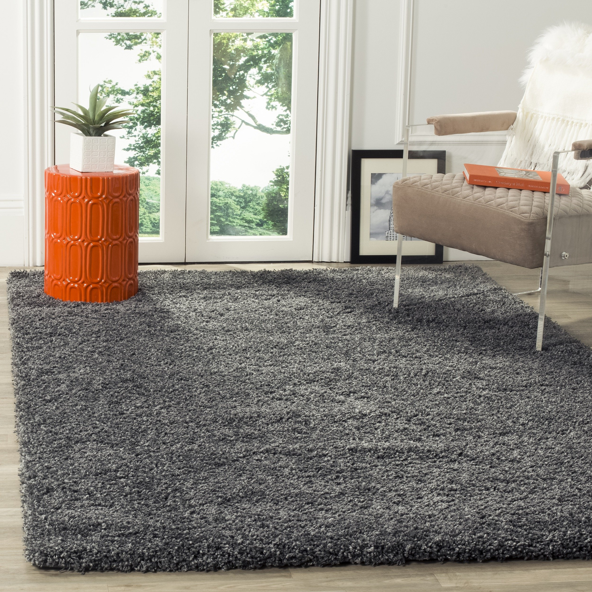 Safavieh California Shag Collection SG151-8484 Dark Grey Area Rug (8' x 10')