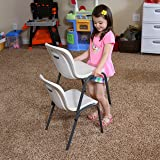 LIFETIME 80383 Kids Stacking Chair, Almond