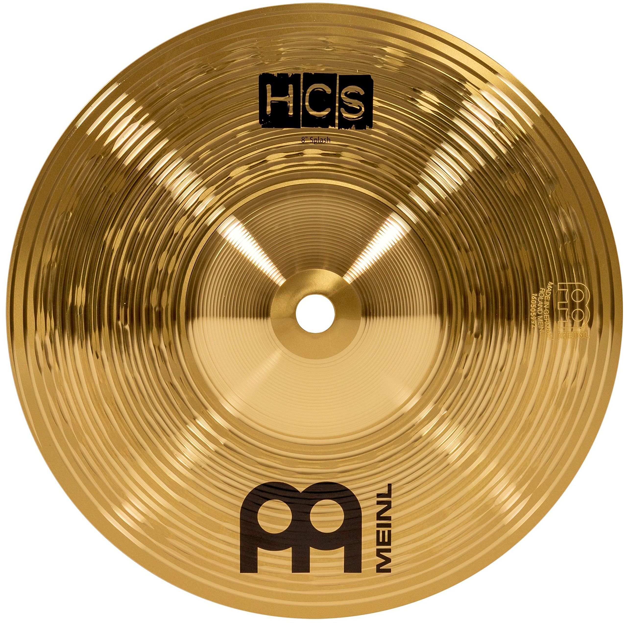 "Meinl 8"" Splash Cymbal – HCS Traditional Finish Brass for Drum Set, Made In Germany, 2-YEAR WARRANTY (HCS8S)"
