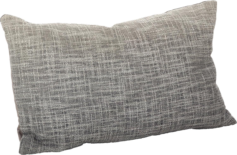 SARO LIFESTYLE Smocked Design Cotton Down Filled Throw Pillow//0002.T1420B 14 x 20 Taupe