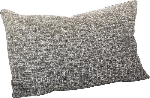 SARO LIFESTYLE Lancaster Collection Ombre Design Down Filled Cotton Throw Pillow 0009.FG1423B, 14 x 23 , Fog