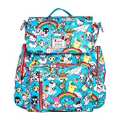 JuJuBe Be Sporty Backpack/Diaper Bag, Tokidoki Collection - Rainbow Dreams