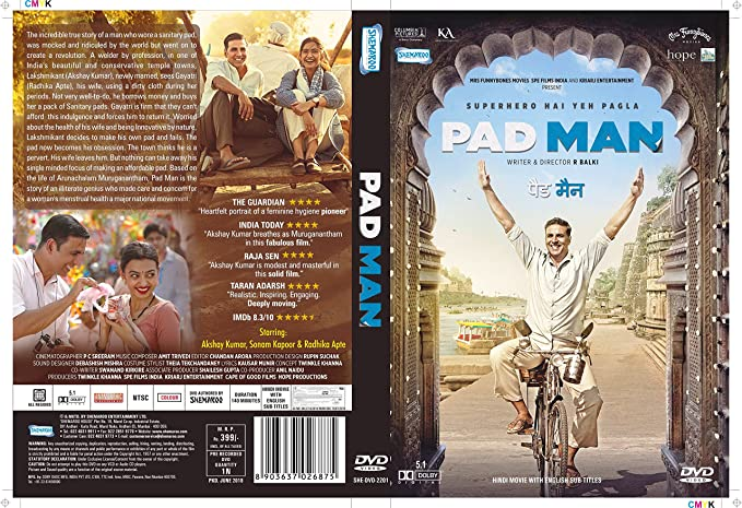 Amazonin Buy Pad Man Dvd Blu Ray Online At Best Prices In India