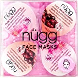 nügg Moisture Boost Moisturizing Face Mask Kit for Dry Skin: Deep Moisture and Hydration for Instantly Softer, Smoother Skin; 4 Pack of Single Serve Pods (4x0.33 fl.oz.)