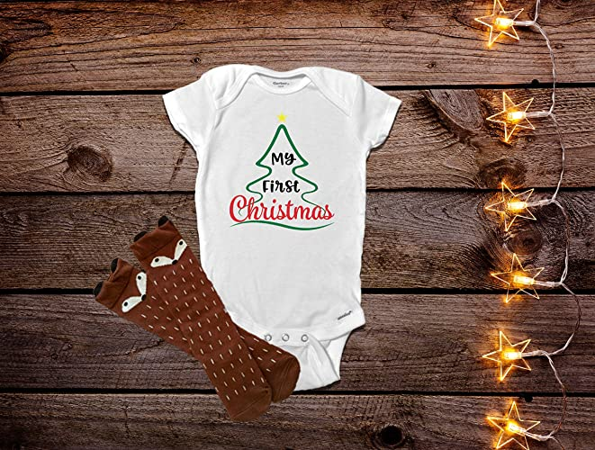 74ad5f12b My First Christmas Onesie®, First Christmas Baby Clothes, Christmas Onesie®,  Baby Christmas Outfit, Baby Girl Clothes, Baby Boy Clothes, Boy Christmas  ...