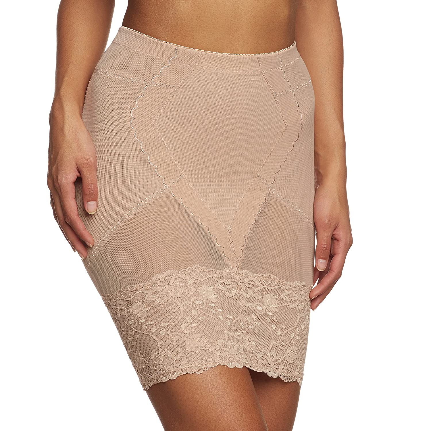 Magic Bodyfashion Women's Super Control Skirt With Lace Plain Shaping Half Slip