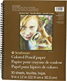 Pro-Art Strathmore Colored Pencil Spiral Paper Pad 9-inch x 12-inch, 30 Sheets