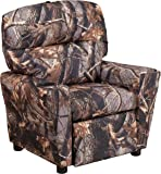 Flash Furniture Contemporary Camouflaged Fabric Kids Recliner with Cup Holder  sc 1 st  Amazon.com & Amazon.com: Flash Furniture Personalized Brown Leather Kids ... islam-shia.org