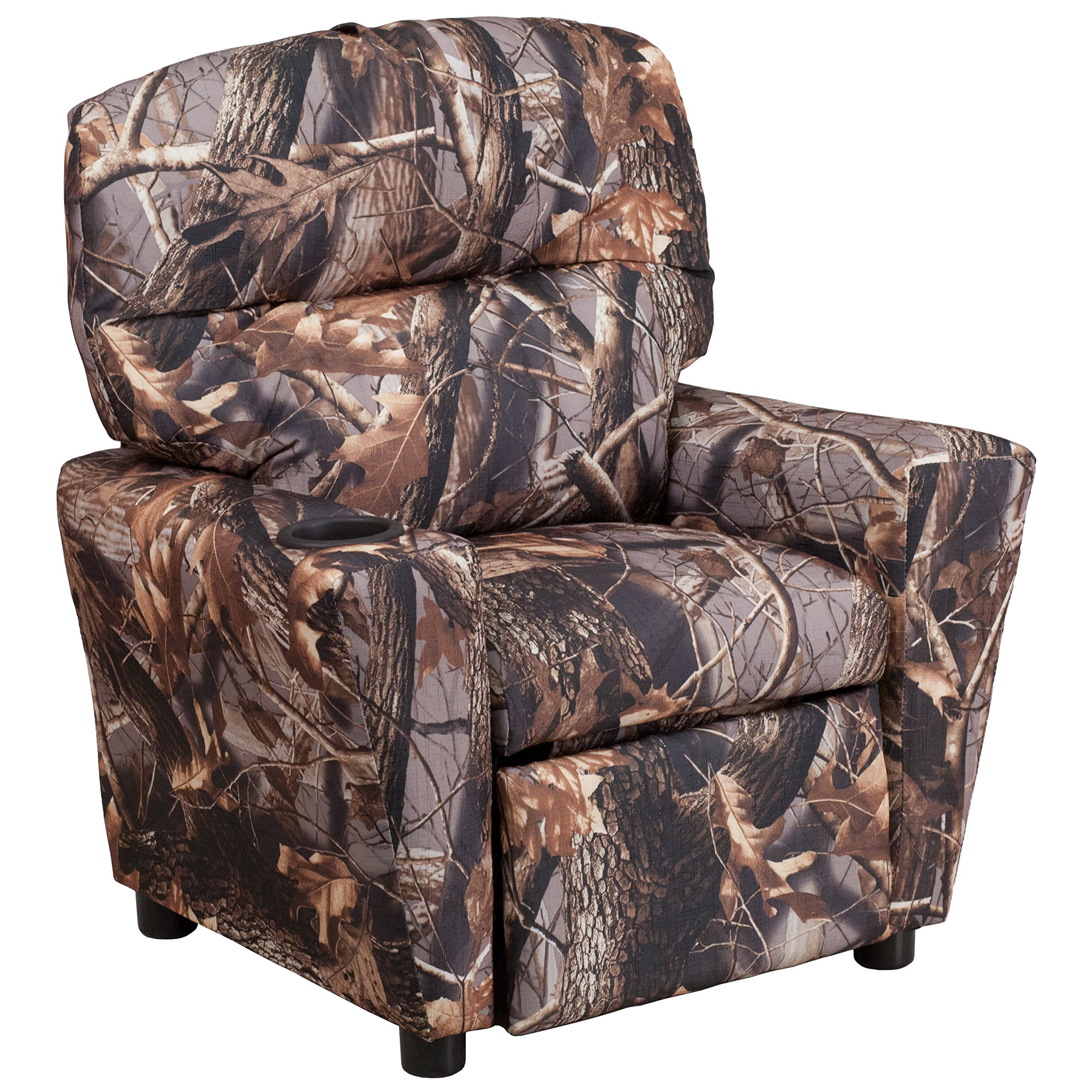 Flash Furniture Contemporary Camouflaged Fabric Kids Recliner with Cup Holder