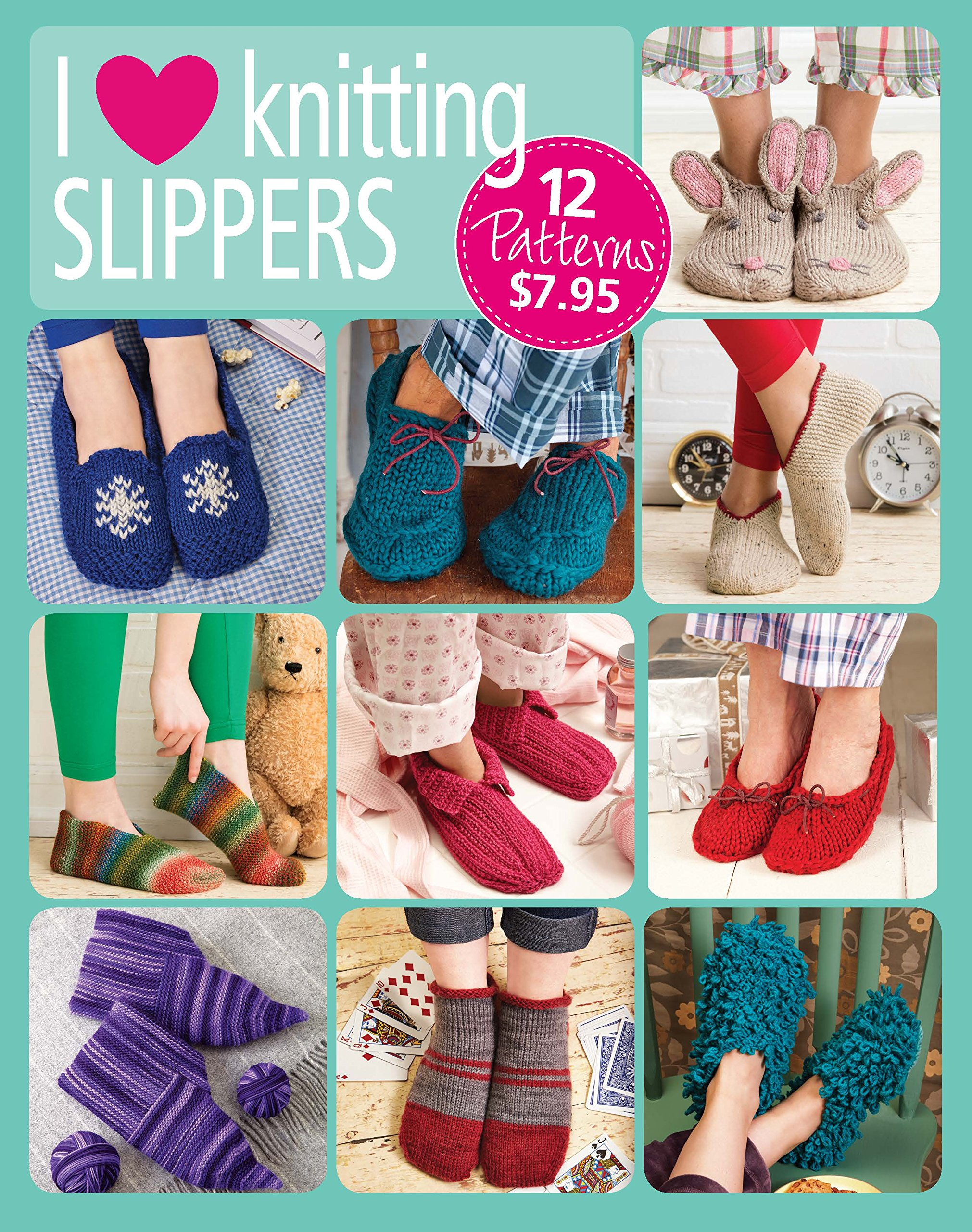 f55a91e8dfe I Love Knitting Slippers  The Editors of Go-Crafty  9781640210196 ...