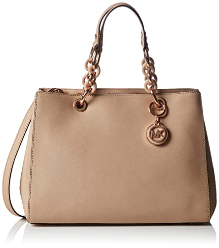 f85c0f54459b Amazon.com: Michael Kors Cynthia MEDIUM Satchel BLUSH: Shoes