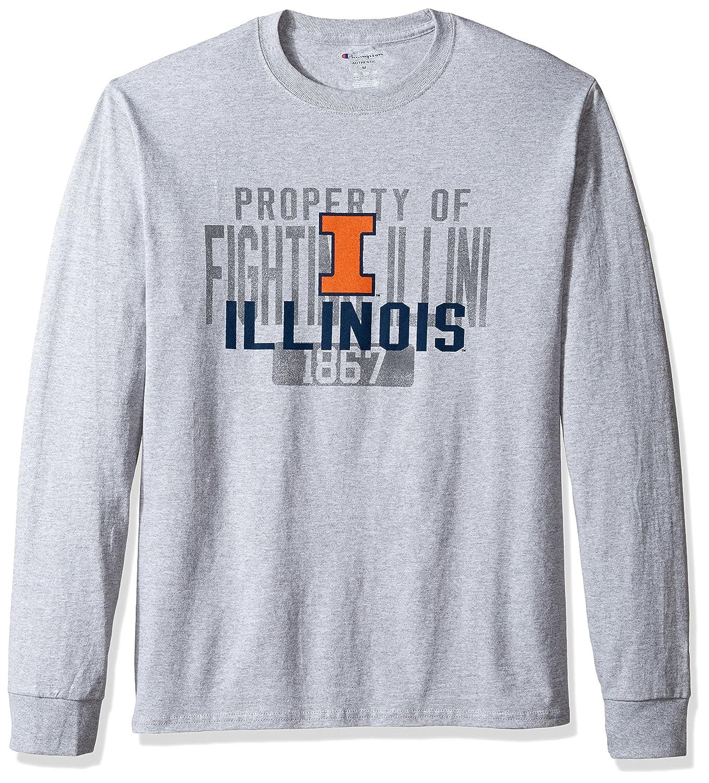 NCAA Illinois Illini Men's Champ Long Sleeve Tee 2 Small Oxford
