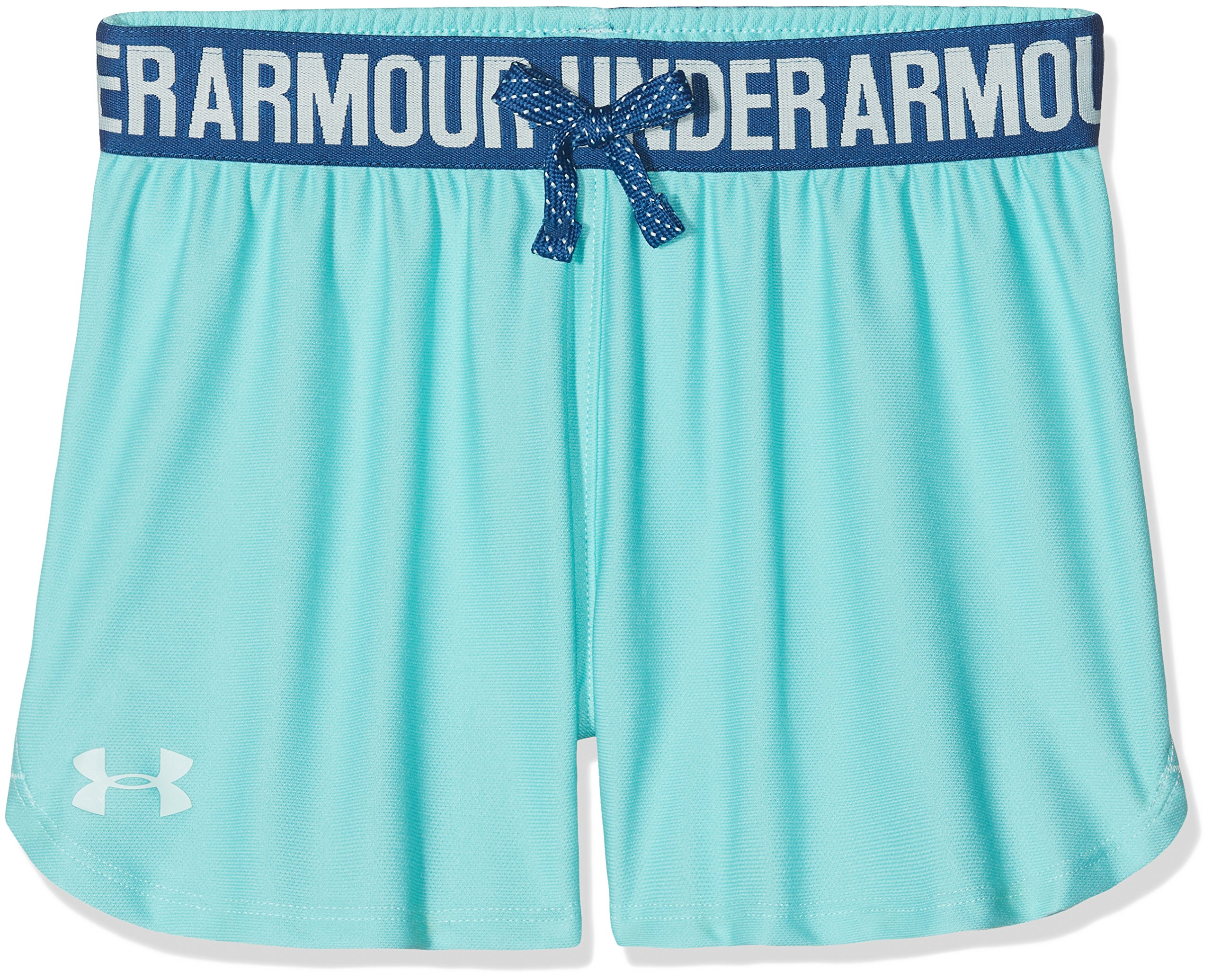 Under Armour Kids Girl's Play Up Shorts (Big Kids) Tropical Tide/Moroccan Blue Small