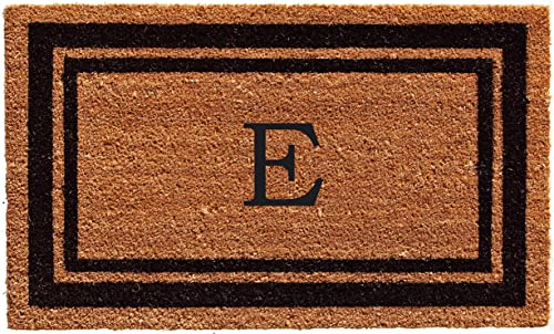 Calloway Mills 152962436E Black Border 24 x 36 Monogram Doormat, Letter E