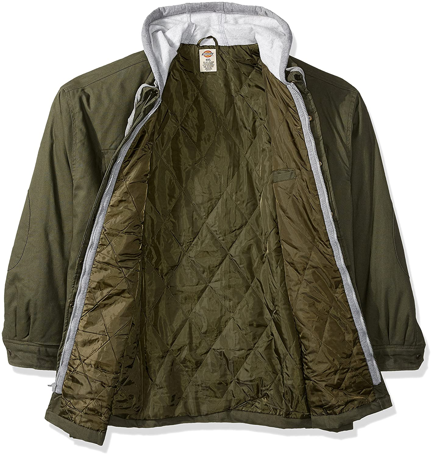 4528452312 Amazon.com  Dickies Men s Canvas Shirt Jacket with Quilted Lining  Work  Utility Outerwear  Clothing