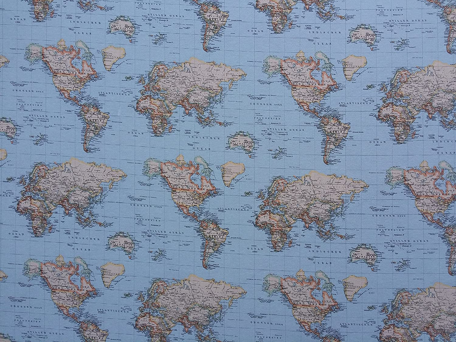 World map print 100 cotton designer curtains bedding cushion world map print 100 cotton designer curtains bedding cushion covers upholstery roman blinds fabric prestige fashion uk ltd amazon kitchen gumiabroncs Image collections