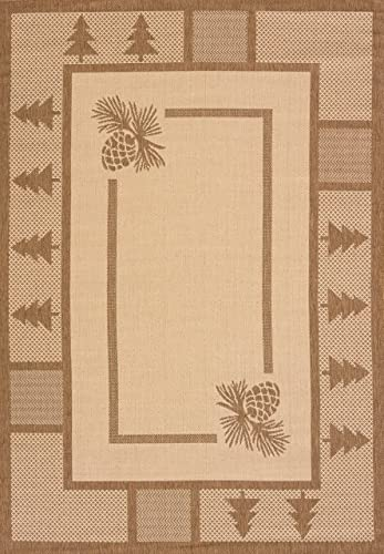 United Weavers of America Pine Court Area Rug, 2 7 x 4 2 , Brown