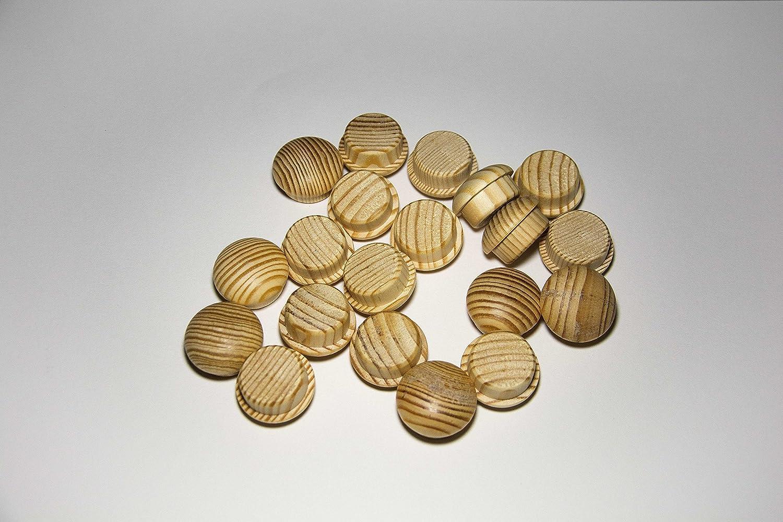 Pack de 20 tapones de madera Pino (Ø 25/30 mm con mecha): Amazon.es: Bricolaje y herramientas