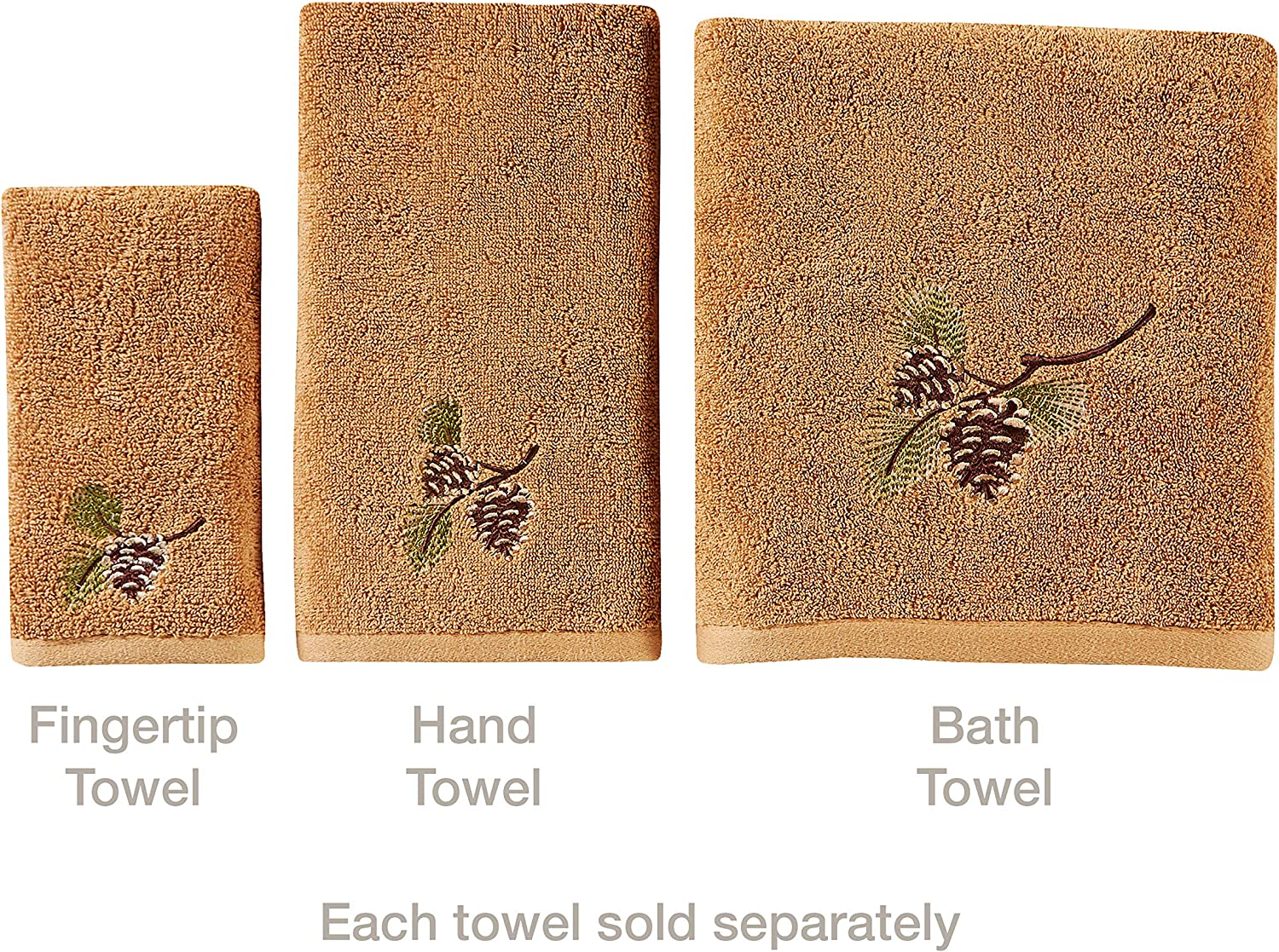 Wheat M1186300800203 SKL Home by Saturday Knight Ltd Pinehaven Hand Towel