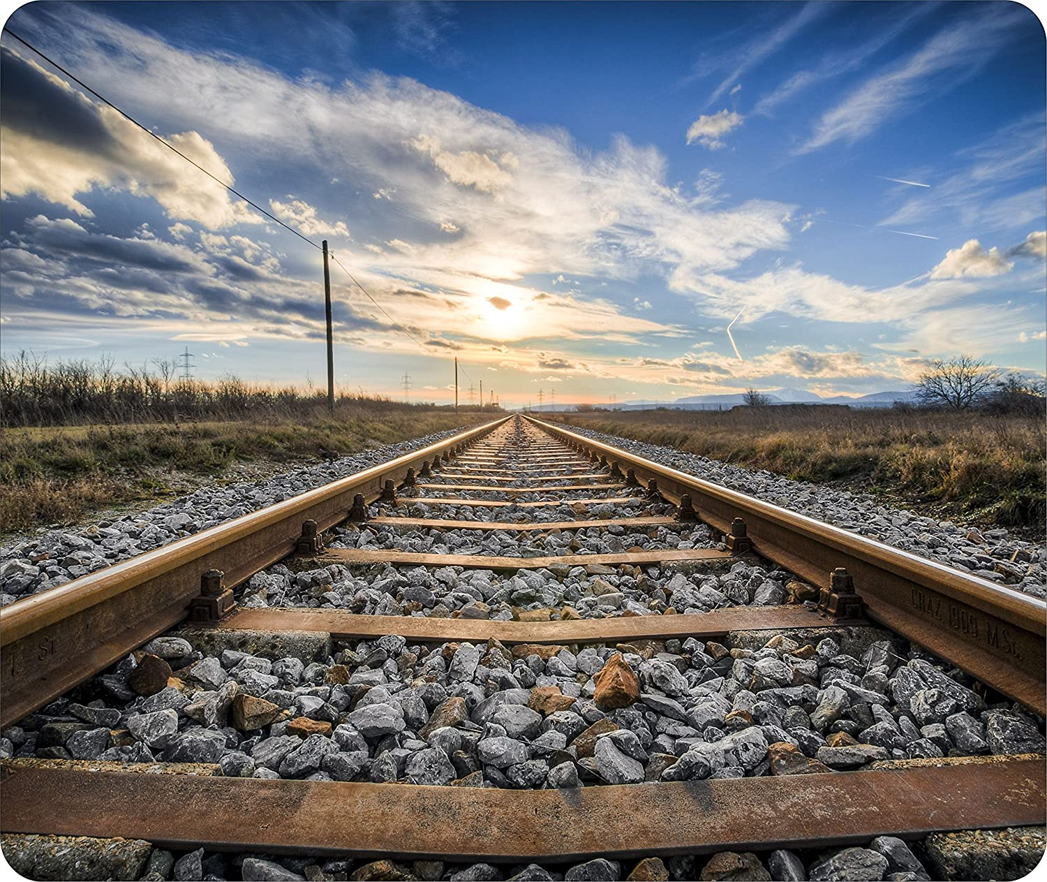 Mouse Pad With Railroad Tracks Train Track Hell On Wheels