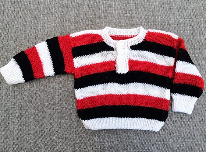6bde1f21354c Amazon.com  Hand Knitted Baby Sweater. Hand Knitted Pullover for ...
