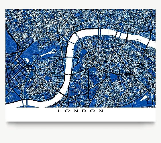 Amazon london map art great britain blueprint city print london map art great britain blueprint city print buildings malvernweather Images