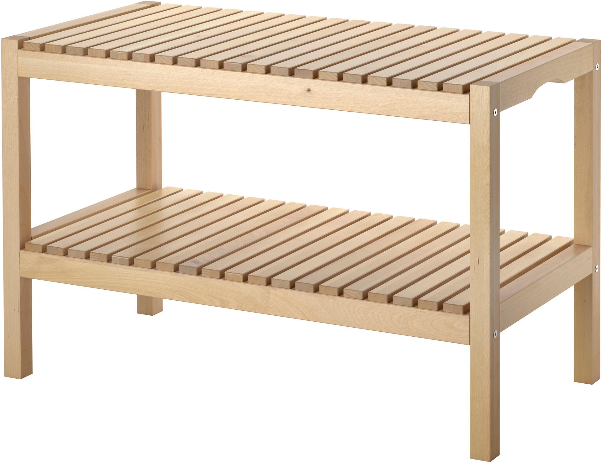 MOLGER Bench - birch, - IKEA