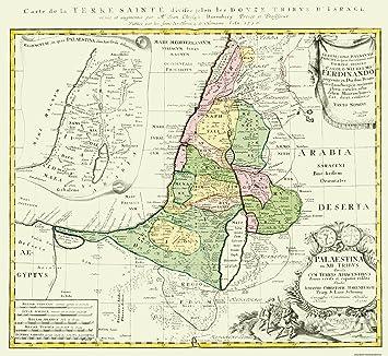 Amazon|古いイスラエルマップ –...