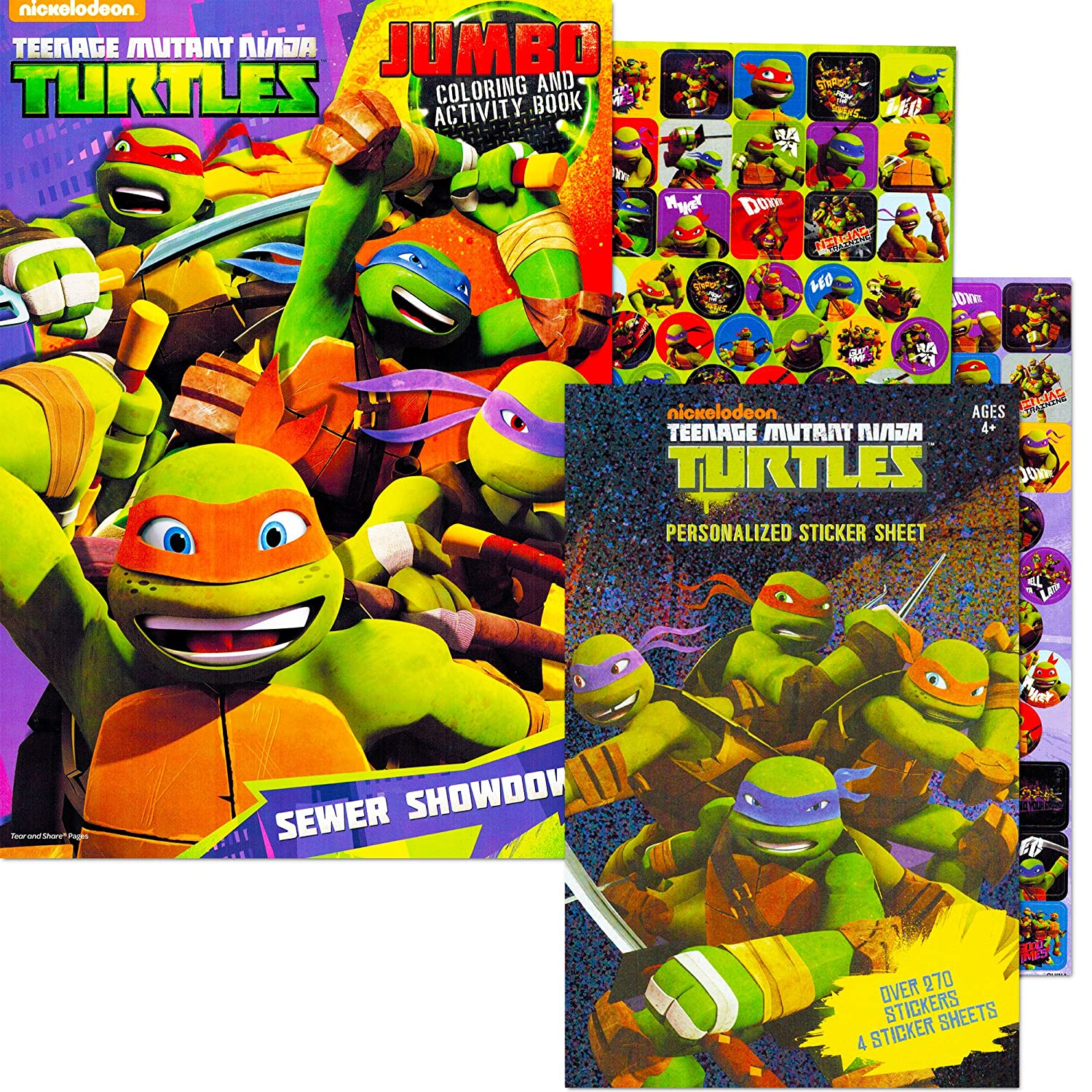 Teenage Mutant Ninja Turtles Coloring and Activity Book with Stickers (TMNT)