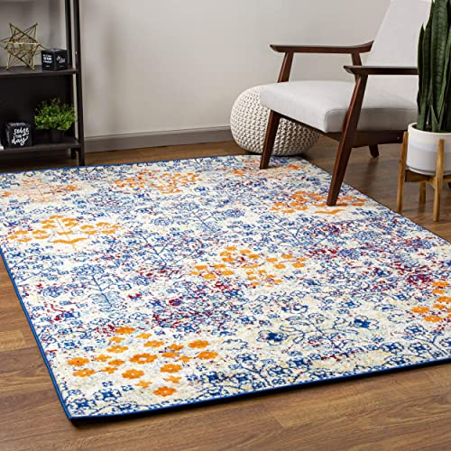 Super Area Rugs Colorful Bohemian Vintage Abstract Area Rug