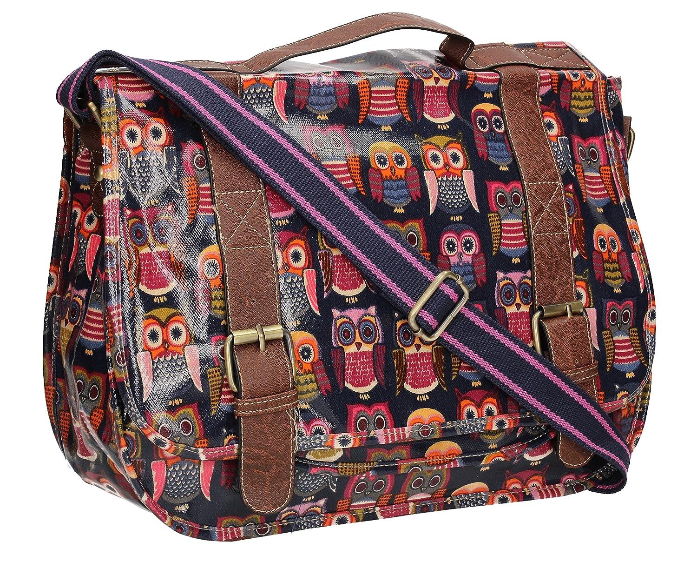 b117d57d041c Swanky Rose Floral Print Womens Satchel Girls School Day Bag