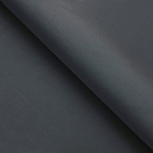 Superior Solid Thermal Set of 2 Blackout Curtain Panels with Stainless Grommets, 52 x 108 , Grey