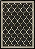 Safavieh Courtyard Collection CY6889-26 Black and