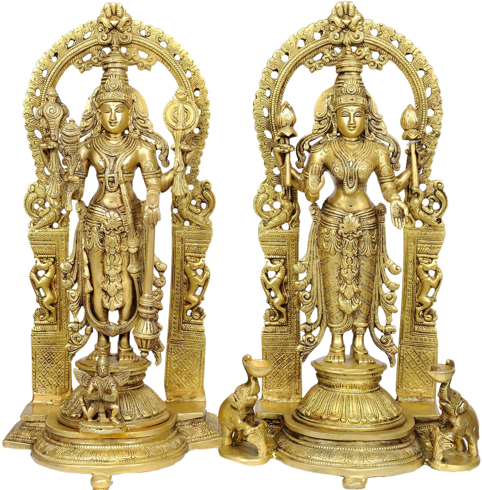 Lakshmi-Vishnu - Brass Statue