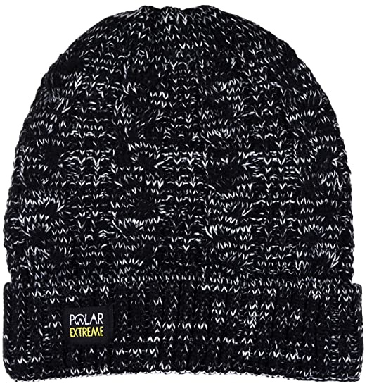 27aa22f51cf23 Polar Extreme Women s Insulated Thermal Knit Cuffed Beanie in 6 Great  Colors (Black) at Amazon Women s Clothing store