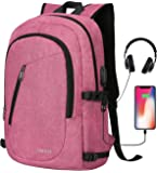 Cafele Laptop Backpack, Anti Theft Water Resistant College Student Bookbag School Backpack with USB Port, Slim…