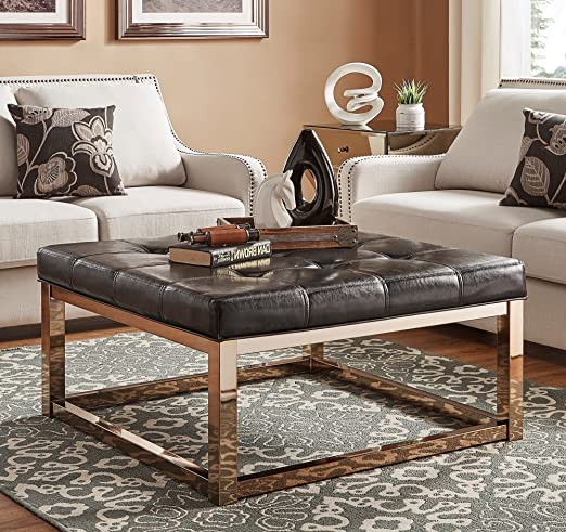 Amazon Com Luxurious Ottoman Coffee Table Dark Dimpled Tufts Top