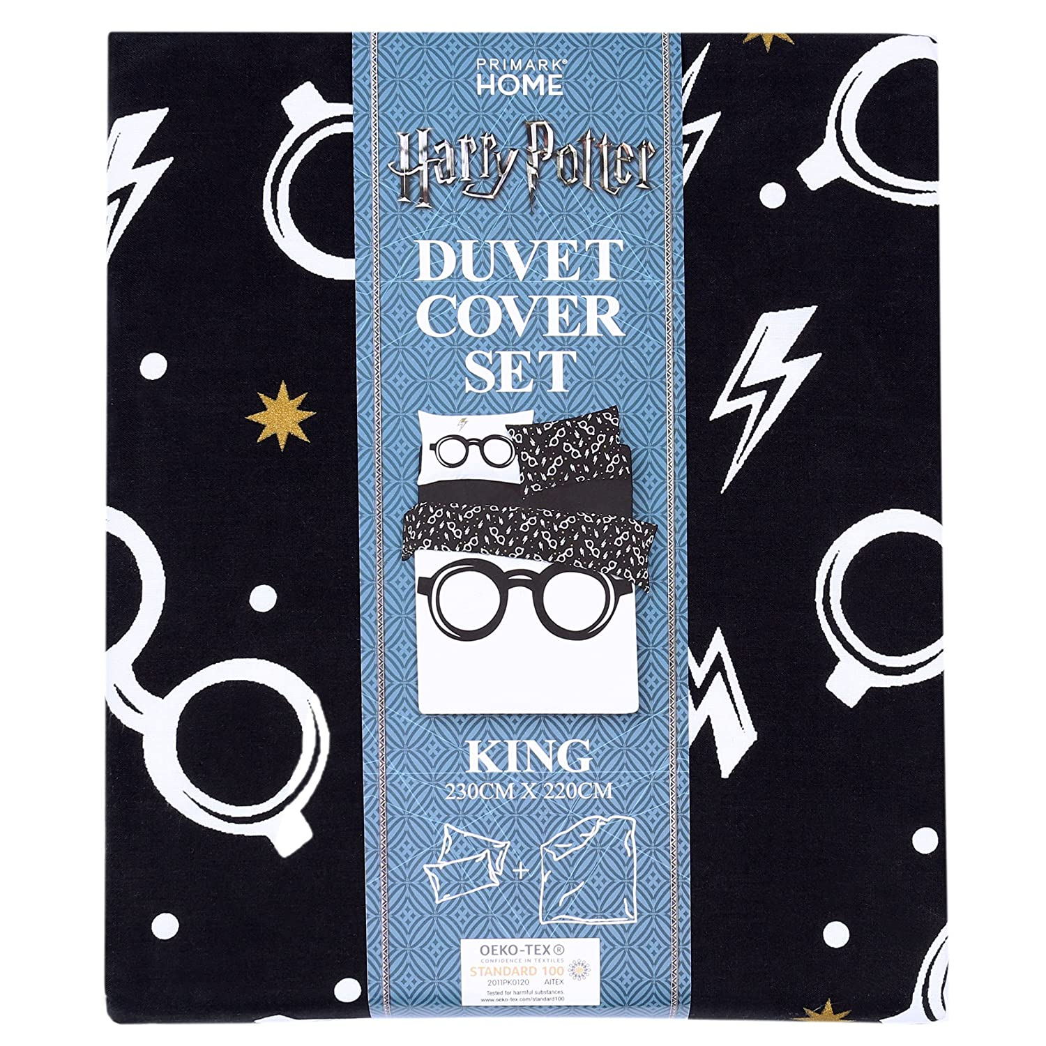 Juego De Cama Blanco Y Negro 230x220 Harry Potter Harry Potter