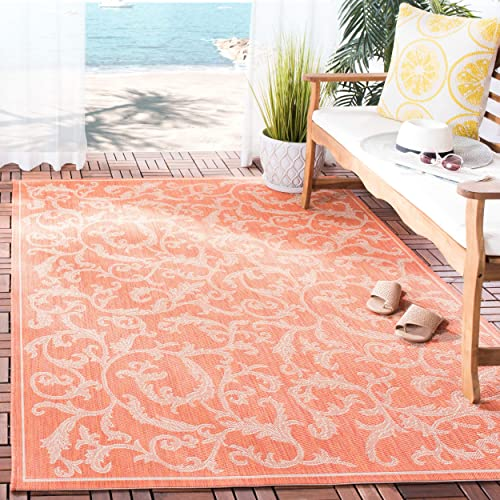 Safavieh Courtyard Collection CY2653-3202 Terracotta and Natural Indoor Outdoor Area Rug, 9 feet by 12 feet 9 x 12