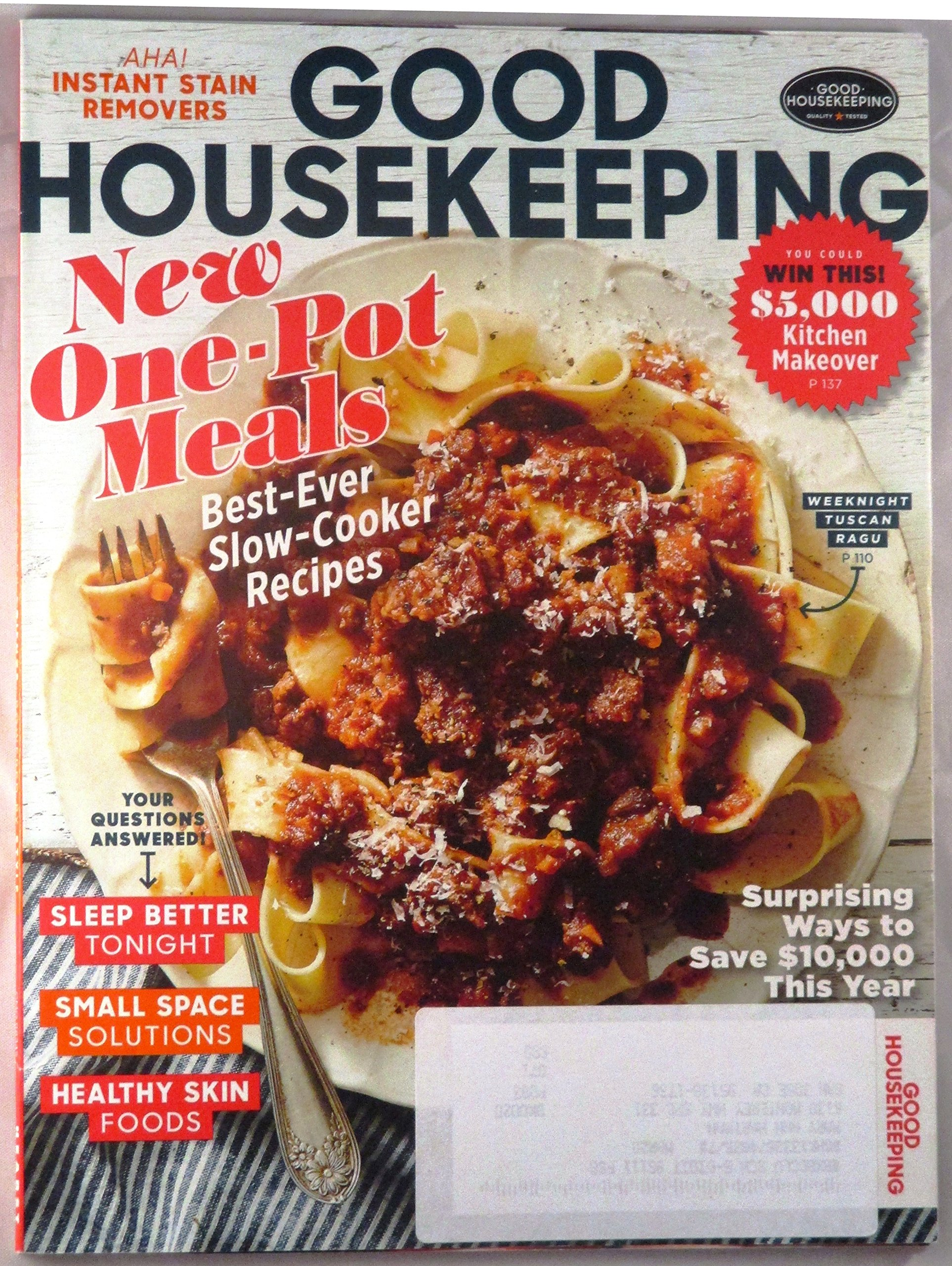 Download Good Housekeeping magazine (February 2017) New One-Pot Meals / Sleep Better Tonight / Surprising Ways to Save $10,000 This Year + More pdf