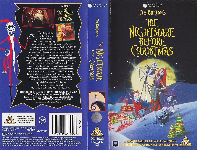 Amazon.com: The Nightmare Before Christmas [VHS]: Danny Elfman ...