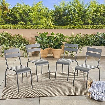 Peachy Amazon Com Great Deal Furniture Jayden Outdoor Iron Dining Machost Co Dining Chair Design Ideas Machostcouk